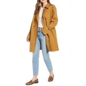 Something Navy Easy Oversized Trench Coat